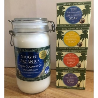 1 Litre Jar - FREE SOAP DEAL - Coconut Oil Organic Virgin